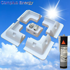 Quality Solar Mounting Kit - 5 Pieces - Corner Mounts + Cable Gland + SikaFlex