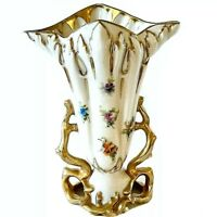 Royal Crown Hand Painted Petite Wildflowers Cottagecore Signed Lindquist Vase