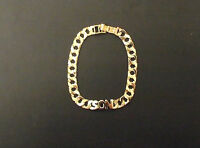 9ct Solid Gold Name Flat Link Curb Bracelet 10mm link Fully Hallmarked 8.5 inch