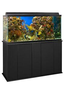 Aquatic Fundamentals 75-90 Gallon Black Wood Upright Aquarium Stand