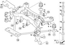 BMW Genuine Roll Over Strut Rubber Mount Mounting 33326770829