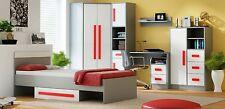 Jugendzimmer, Kinderzimmer Set GIT, Bett, Schrank, Kommode, Schreibtisch...