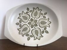 """J & G Meakin Maidstone TULIP TIME Oval Plate 12"""""""