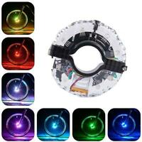 Rechargeable Bike Wheel Hub Lights Waterproof LED Cycling Colorful Spoke Lights