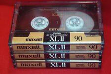 Audiokassetten ► MAXELL XLII 90 ◄ Tapedeck Musik Cassetten ENGLAND 3 Stück!!
