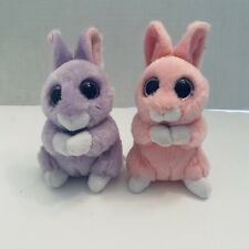 Ty Basket Beanie Baby April & Jasper Bunny Purple/ Pink Rabbit Plush 2017