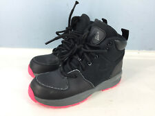 6258b46fd73b NIKE ACG Black Leather Boots Textile Kids Youth 13 Excellent