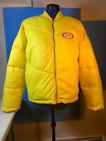 Mademe New York Puffer Bomber Jacket Color Yellow Size Medium New With Tags