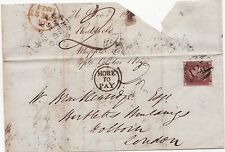 * 1844 =123= BRIDGEWATER  LONDON MORE TO PAY 2d POSTAGE DUE JOHN RUDDOCK LETTERp