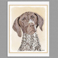 6 German Shorthaired Pointer Blank Art Note Greeting Cards
