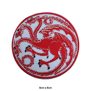 Targaryen Game of Thrones House Embroidered Patch Iron on Sew On Badge