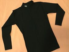 UNDER ARMOR Teen Boys Athletic ThickCold Weather Ice Hockey Compression Shirt LG