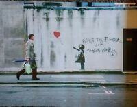 Banksy - Balloon Fight - EXHIBITION POSTER by Steve Lazarides - RARE