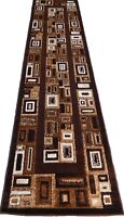 Modern Contemporary Modern 3x10 Area Rug Brown Actual Size 2'3 x 10'10'