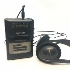 SONY Walkman WM-AF50 Stereo Cassette Player FM AM Radio MDR-201 Headphones Read
