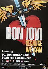 BON JOVI  2013  BERN    + orig.Concert Poster -- Konzert Plakat  NEU  A2