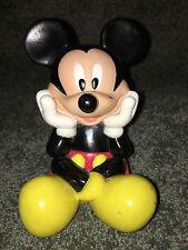 "MICKEY MOUSE MONEY BANK Vintage WALT DISNEY 6"" Plastic Figurine COIN PIGGY BANK"