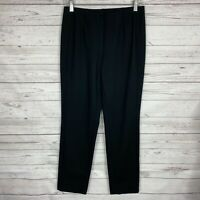 J. Jill Womens Ponte Slim Leg Ankle Pants Size Small Black Pull-On Stretch