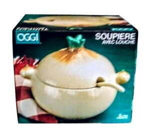 SOUP TUREEN ONION OGGI 2L NEW IN THE BOX  MADE IN USA