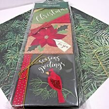 Christmas Gift Card Holder Box Set of 3 Decorative Gift Boxes 3 Designs Nib