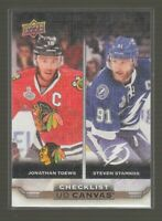 (71065) 2015-16 UPPER DECK CANVAS CHECKLIST JONATHAN TOEWS & STEVEN STAMKOS #C90