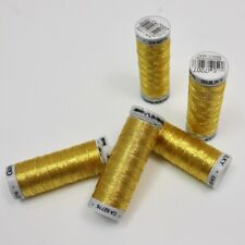 Gutermann Sulky Metallic Thread - Gold 7007 - Gold Sewing Embroidery Thread