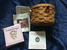 Longaberger Small Round Horizon Of Hope Breast Cancer Basket Insert 2 Tie Ons