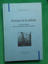 PRESENCE DE LA SOLITUDE POESIE ANGLAISE NEOCLASSICISME PREROMANTISME V SOUBRENIE