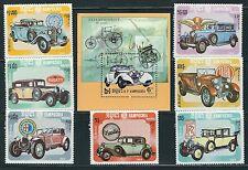 Kampuchea - Beautiful Mnh Set Classic Cars + Ss.Scott 518-525.A 8713-92