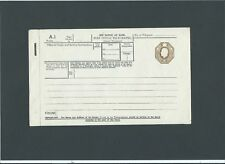 GB Postal Stationery 1934 KGV 1s olive brown Inland Telegraph Form size c TP24m