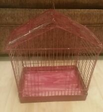 "Vintage Reliance Bird Cage 12.5"" tall x 14"" wide x 8"" deep mid-century painted"
