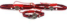 Saint Benedict Red & Black Bracelet For Mom Dad Baby / San Benito Mama Papa Bebe
