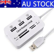 Multi Micro USB SD Card Reader Extension Port Cable Hub Combo USB Splitter Hubs