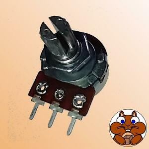 Poti Dreh-Potentiometer 1k-500k Ohm mono/stereo lin/log Pin/Öse gerade/gewinkelt