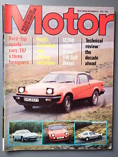 R&L Mag: Motor 1979 Nov 24, Mk1 Golf LD/Lotus Sunbeam Rally/Triumph Tr7 Test