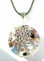 necklace Orgonite pendant Dreamcatcher, EMF protection, positive energy.