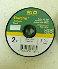 Rio Fluoroflex Freshwater Tippet 2X 8.0 LB MEDIUM STIFF STEELHEAD SALMON BASS