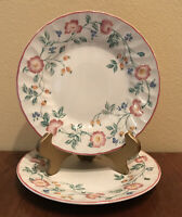 "CHURCHILL Briar Rose Salad Plate(s) 8"" Set of 2 Pink Floral England EUC"