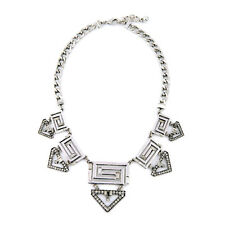 *New* Labyrinth Necklace Silver Egyptian Art Deco Statement Necklace LF
