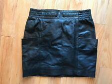 Marc by Marc Jacobs Black Leather Mini Skirt 2