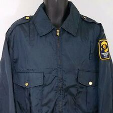 Pinkerton Private Security Bomber Jacket Vintage Riverside Made In USA Large