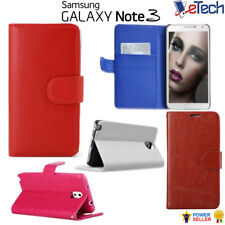 For Samsung Galaxy Note 3 Premium Pu Leather Wallet Stand Case Cover Protector
