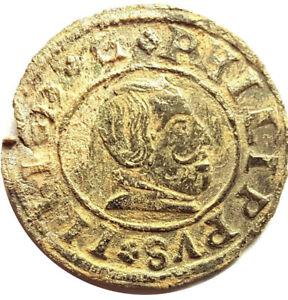 1663 / 16 MARAVEDIS OF PHILIPPUS IV /  FELIPE IV 1663   #PZS69