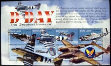 WWII STAMPS SHEET D-DAY 2004 MNH SIERRA LEONE WORLD WAR II AIRCRAFT AIRPLANE