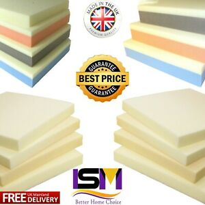 Memory Foam Cut to Size Seat Pad Floor Cushions Sofa Chair Dog Topper All Sizes
