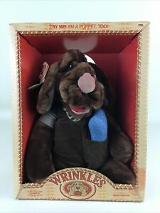 Wrinkles Vintage 1981 Puppy Puppet Plush Stuffed Animal Toy Pet Ganz Bros Toys