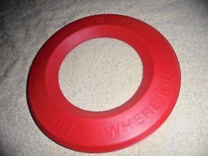 "Burger King Where Kids Are King Vtg Red Flying Zinger Ring Toy  Disc USA 7.5"""