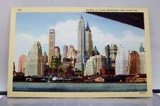 New York NY NYC Lower Manhattan Skyline Postcard Old Vintage Card View Standard