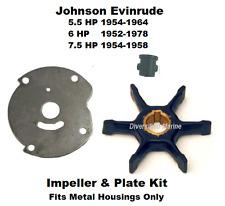 Johnson Evinrude Water Pump Impeller Repair Kit  5.5 HP  6 HP  7.5 HP See Chart