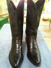 WOMEN CODE WEST BLACK LEATHER POINTY TOE COWBOY BOOTS SIZE 5 1/2 M